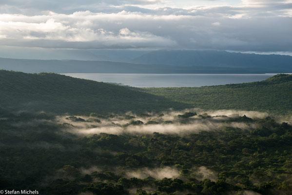 Arba Minch - Blick am Morgen auf den Abaja-See