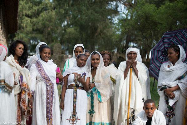 Gondar- Tauffeier in der Klosterkirche.