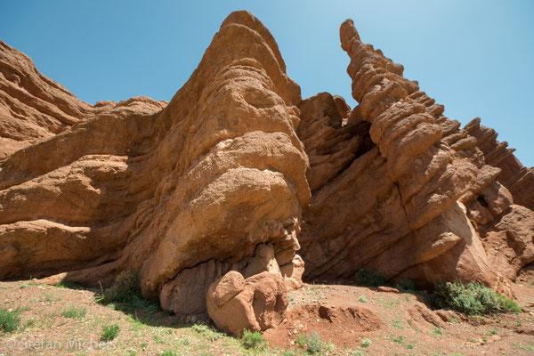 Phantastische Felsformate in Süden Marokkos.