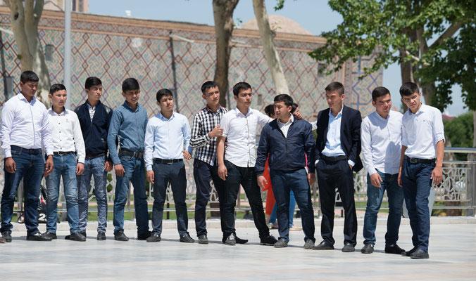 Samarqand liegt auf einer Hochebene in 720 Metern Höhe.