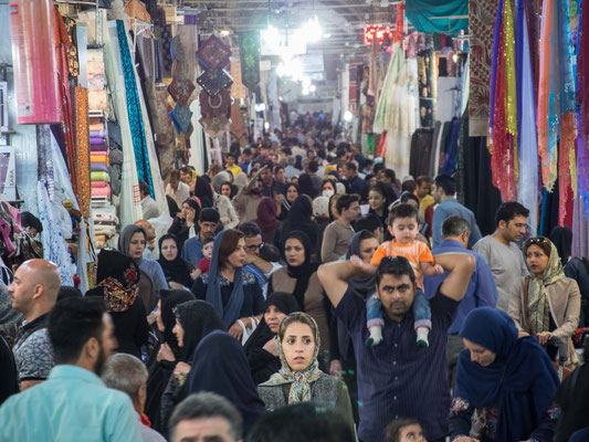 Im Basar von Shiraz.