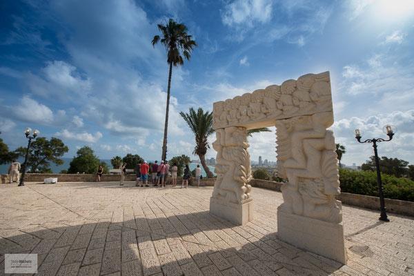 Blick von Jaffa (Jaffo) auf Tel Aviv.