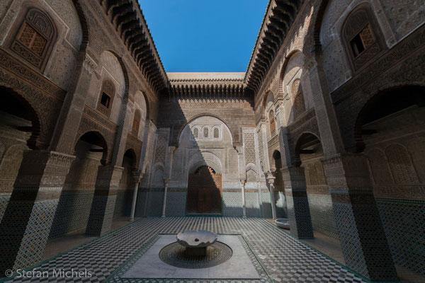 Fès -Liegt 60 Kilometer östlich von Meknès in der bewässerten, fruchtbaren Tiefebene von Saus.