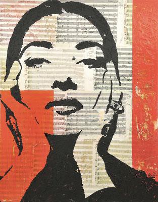 SPIRIT OF MUSIC; Mischtechnik auf Leinwand, 120x95 cm