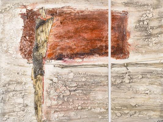 METAMORPHOSE; Mischtechnik auf Holz, 2-teilig, 67x90 cm