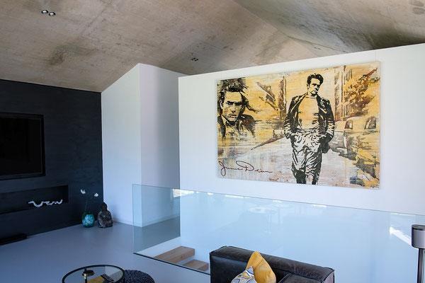 James Dean, Mischtechnik auf Leinwand, 225x150 cm