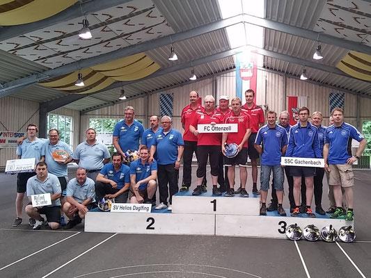 Siegertreppchen 2. Bundesliga