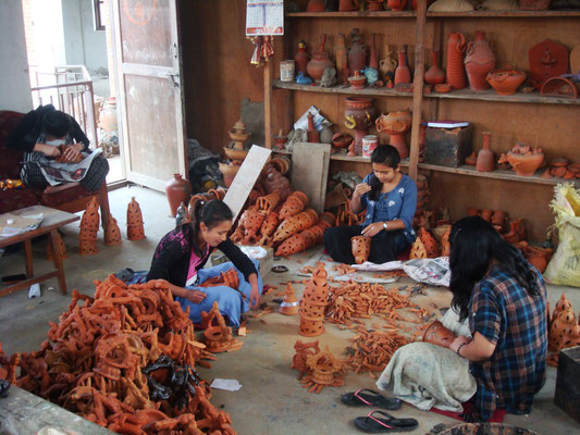 Atelier poterie chez Ramesh
