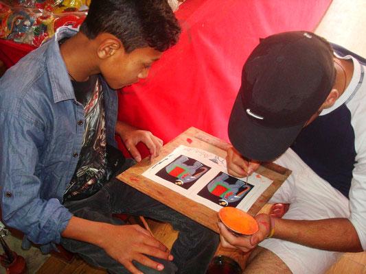 Atelier thanka chez Maddhu