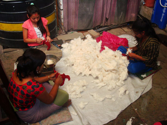 Atelier textile chez Sanu