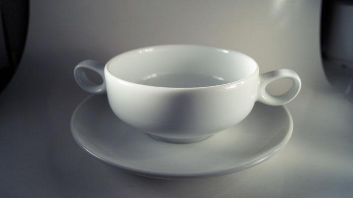 Suppentasse mit Unterteller
