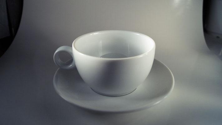 Kaffetasse mit Unterteller