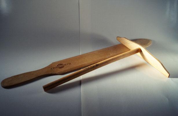 Teigverteiler und Wendeblech Holz