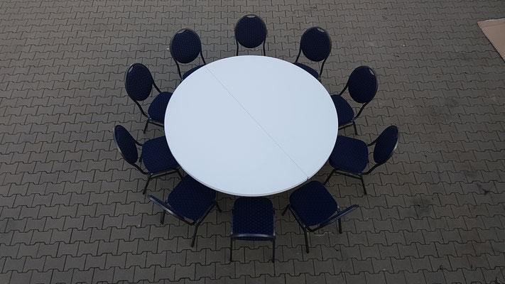 Beispiel mit 10 Bankettstühlen