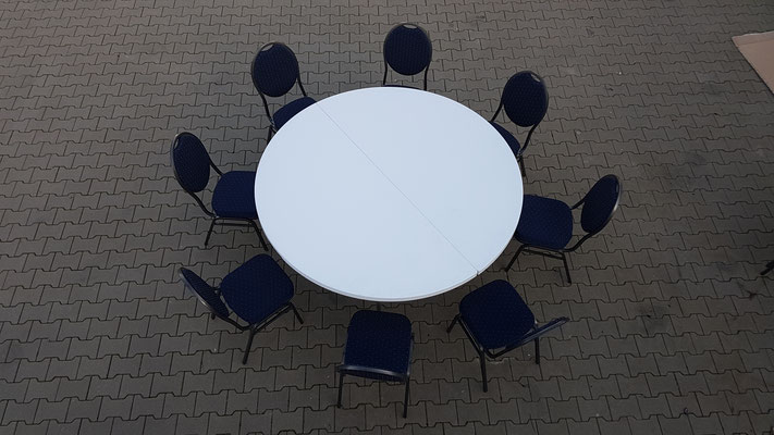 Beispiel mit 8 Bankettstühlen