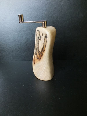 Muskatmühle / Muskatreibe Walnuss Muskatreibe Unikat handarbeit Einzelstück Holz