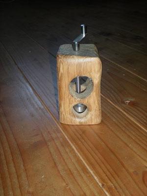 Muskatmühle Holz Eichenbalken Muskatreibe Unikat Holz Einzelstück