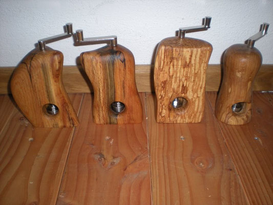Muskatmühle Zwetschge und Trüffelbuche Muskatreibe Unikat Holz Einzelstück