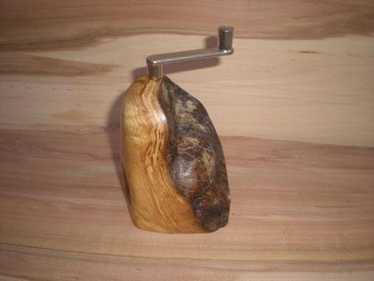Muskatmühle Holz Ulme Muskatreibe Unikat handarbeit Einzelstück Holz