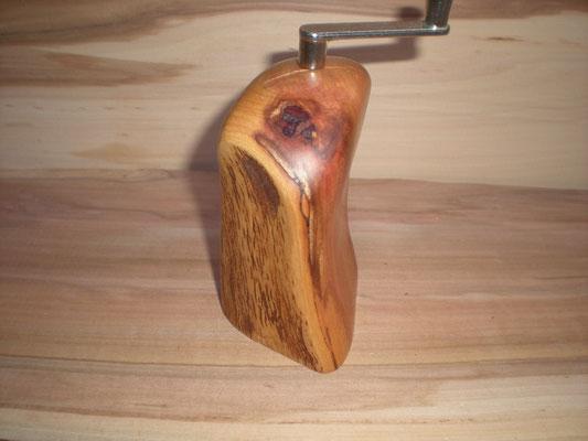 Muskatmühle Holz Zwetschge Muskatreibe Unikat handarbeit Einzelstück Holz