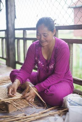 ウォーターヒヤシンス 制作作業 #Pavanasara #Water hyacinth bag