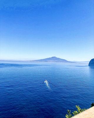 Ausblick von Sorrento auf den Vesuvio
