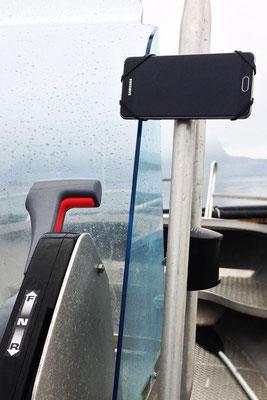 REALflexStrap Angeln Smartphone-Bootshalterung