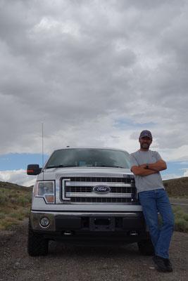 2015 - Stolzer Coowner auf der ersten Fahrt mit Goliath - zum Great Basin N.P.