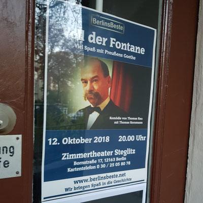 Plakat Zimmertheater Steglitz Voll der Fontane