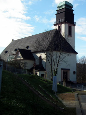 katholische kirche, st. hubertus, jaegersfreude
