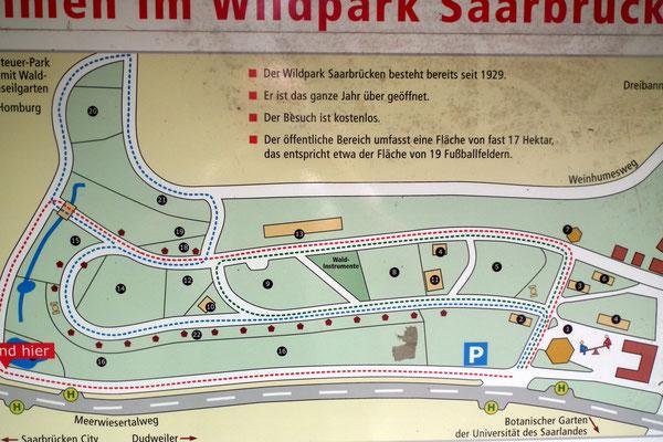 Wildpark Saarbrücken Übersichtsplan