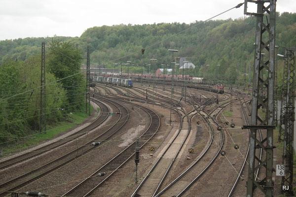 Blick von der Eisenbahnbrücke Zechenweg Jägersfreude
