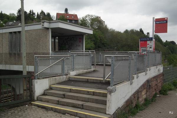 Bahnhof Jägersfreude, Zechenweg