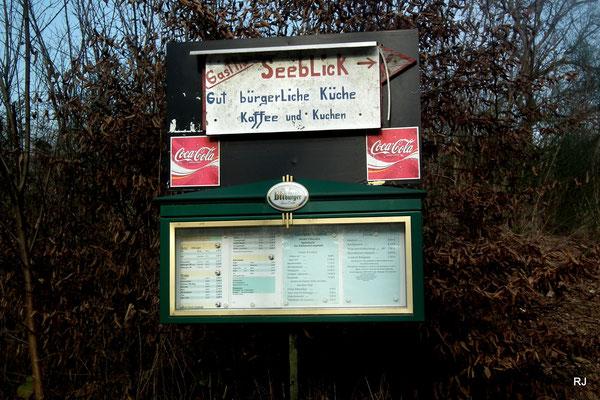 Speisekarte Seeblick am Netzbachweiher