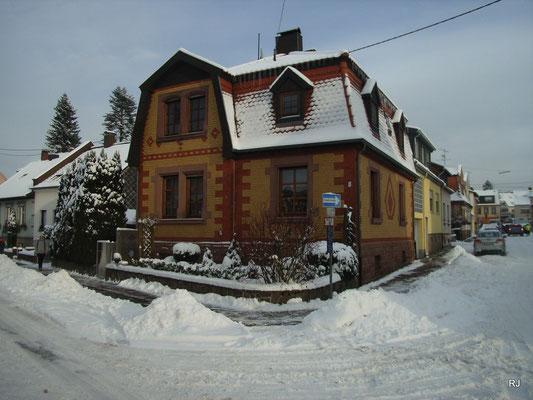 Dudweiler, Alter Stadtweg im Schnee