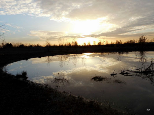Halde Lydia, Sonnenuntergang