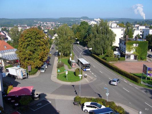 Dudweiler, Blick vom Hotel Seewald zur Beethovenstraße