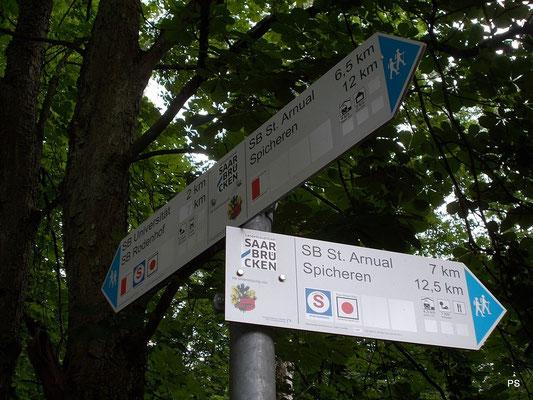 schwarzenberg, saarbruecken, wanderwegweiser
