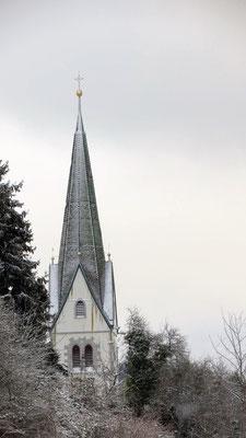 Kirchen Türm in Winter Sipplingen am Bodensee