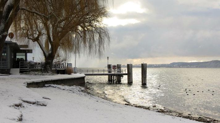 Strandbad in Winter Sipplingen am Bodensee