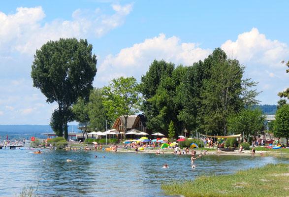 Strandbad in Sommer Sipplingen Bodensee