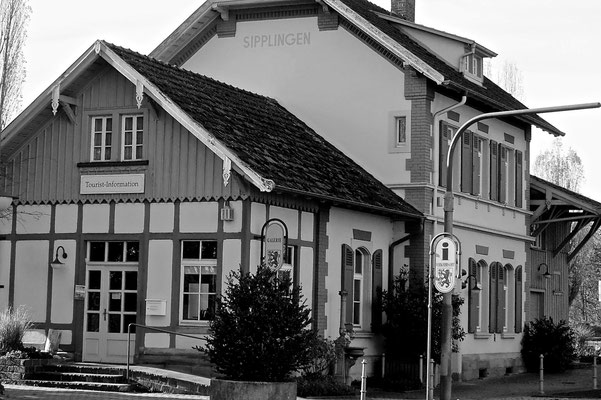 Bahnhof in Winter Sipplingen am Bodensee