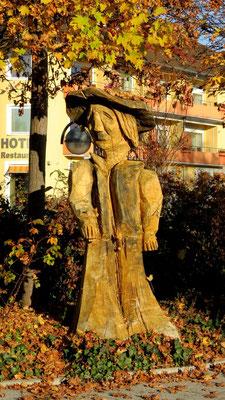 Herbst Holzfigure Sipplingen