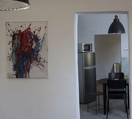 Klosterhof1595 Retro Ferienwohnung Küche von Wohnzimmer