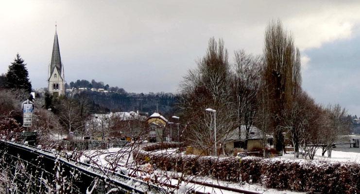 Dorf in Winter Sipplingen am Bodensee