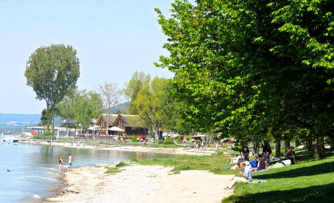 Strandbad in Frühling Sipplingen