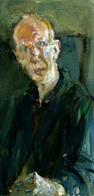 Johannes Heisig: *Selbstporträt*, 2007, Öl/Leinwand, 80 x 40 cm