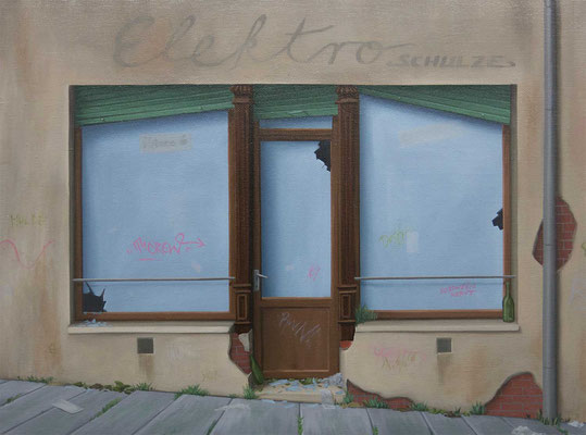 André Schulze: *Rosswein*, 2016, Öl/Leinwand, 30 x 40 cm