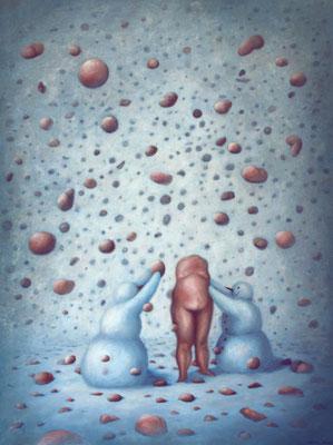 Bruno Pontiroli: *L'origine*, 2011, Öl/Leinwand, 130 x 97 cm