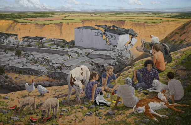 Hartmut Kiewert: *Hügel*, 2019, Öl/Leinwand, 250 x 380 cm